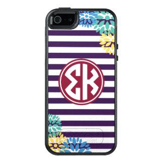 Motif de rayure de monogramme du Kappa | de sigma Coque OtterBox iPhone 5, 5s Et SE