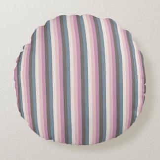 Motif de rayures coloré par antiquité coussins ronds
