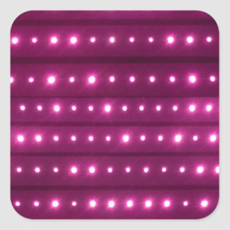 Motif de rayures de galaxie sticker carré