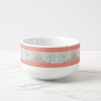 Motif de rayures de pêche et de marbre mug à potage