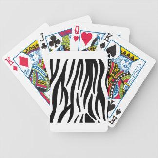 motif de rayures de zèbre jeu de cartes