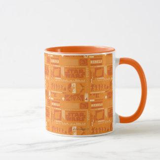 Motif de rebelle d'orange de Star Wars Tasses