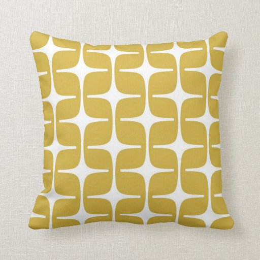 Motif de rectangles de mod dans la moutarde et le  oreillers