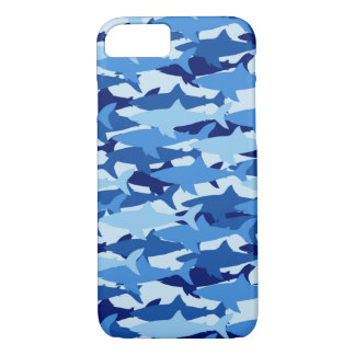 Motif de requin bleu coque iPhone 7