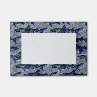 Motif de requin dans pourpre et bleu post-it®