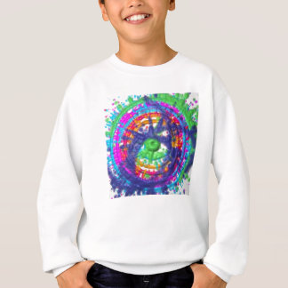 Motif de roue de couleur de peinture sweatshirt