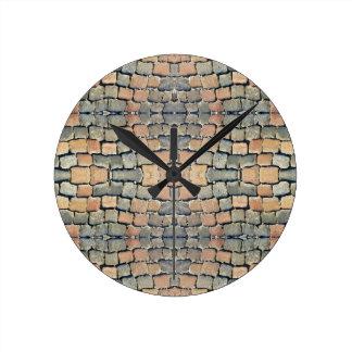 Motif de rue de pavés horloges murales