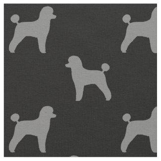 Motif de silhouettes de caniche de jouet tissu