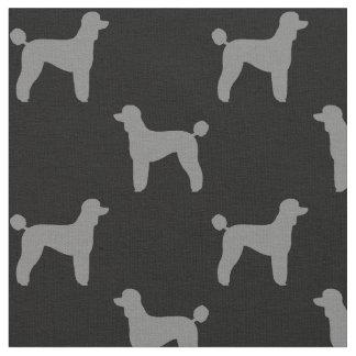Motif de silhouettes de caniche standard tissu