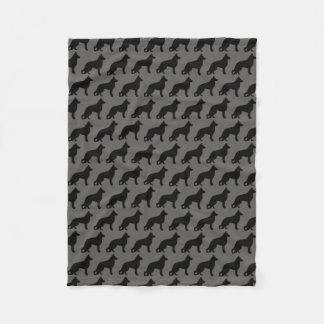 Motif de silhouettes de chien de berger allemand