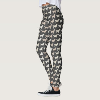 Motif de silhouettes de golden retriever leggings