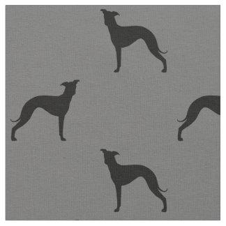 Motif de silhouettes de lévrier italien tissu