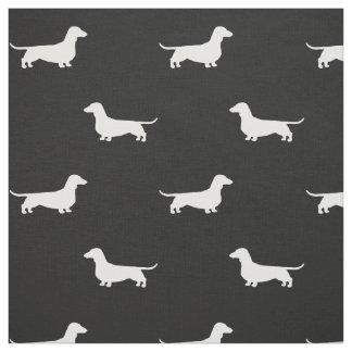 Motif de silhouettes de teckel tissu