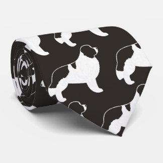 Motif de silhouettes de Terre-Neuve Landseer Cravates