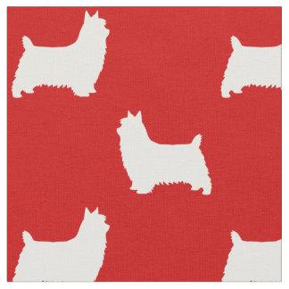 Motif de silhouettes de Terrier soyeux Tissu