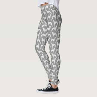 Motif de silhouettes de whippet leggings