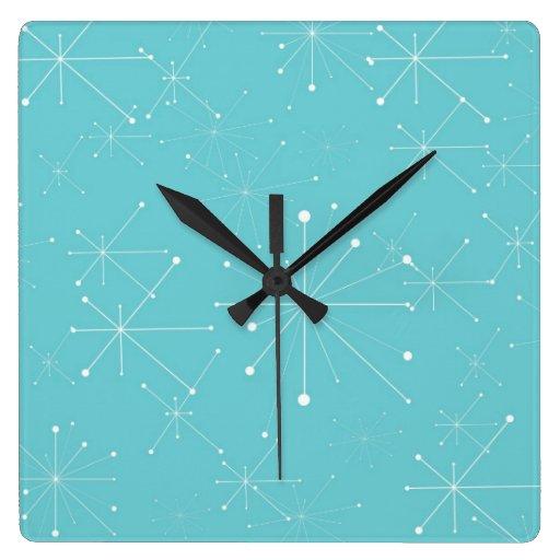 Motif de style de les ann es 50 r tro horloges murales for Decoration murale annee 50