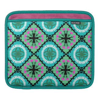 Motif de Suzani avec des motifs d'Ouzbékistan et Poches iPad