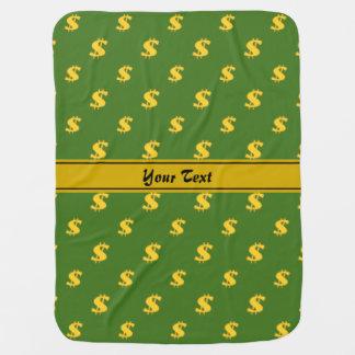 Motif de symbole dollar couvertures de bébé