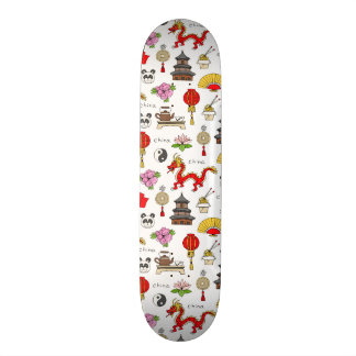 Motif de symboles de la Chine Plateaux De Skateboards Customisés