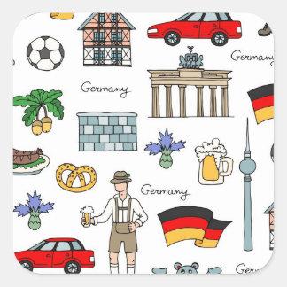 Motif de symboles de l'Allemagne | Sticker Carré