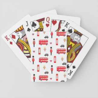 Motif de symboles de l'Angleterre Cartes À Jouer