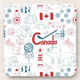 Motif de symboles du Canada | Dessous-de-verre
