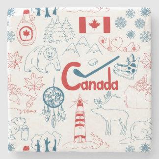 Motif de symboles du Canada | Dessous-de-verre En Pierre