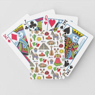 Motif de symboles du Mexique | Jeux De Cartes