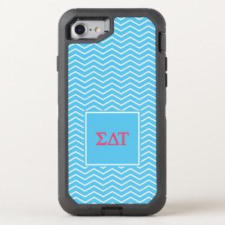 Motif de Tau | Chevron de delta de sigma Coque Otterbox Defender Pour iPhone 7