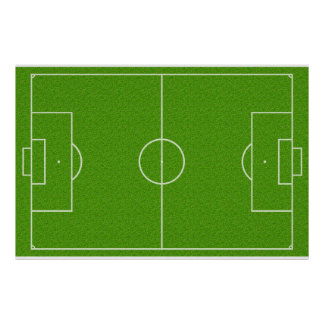 Motif de terrain de football sur l'herbe posters