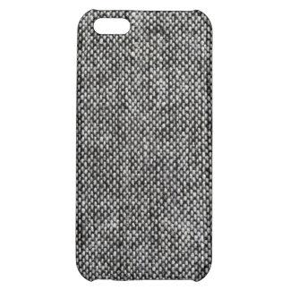 Motif de texture de tissu de tweed de gris de étui iPhone 5C