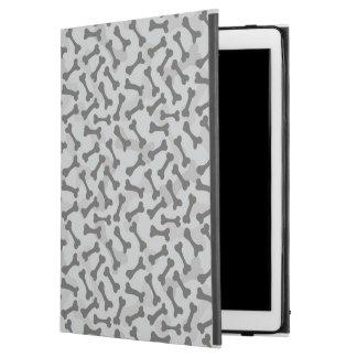 Motif de texture d'os à fond gris