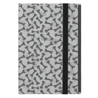 Motif de texture d'os à fond gris coques iPad mini