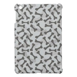 Motif de texture d'os à fond gris étuis iPad mini