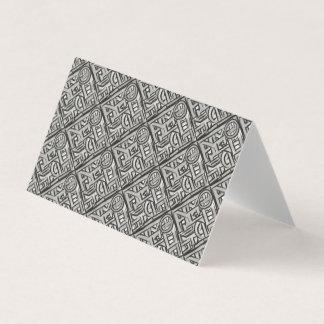 Motif de texture noir gris de Géométrique-Résumé Carte De Visite