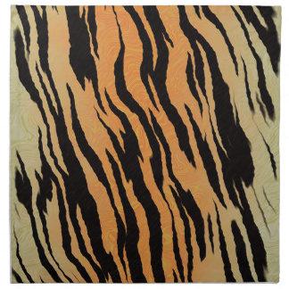 Motif de tigre serviettes en tissus