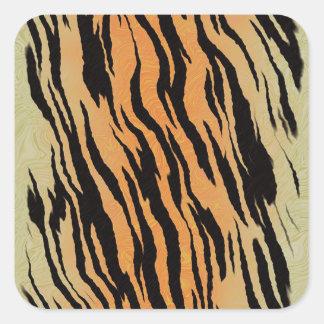 Motif de tigre sticker carré