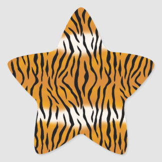 Motif de tigre sticker étoile