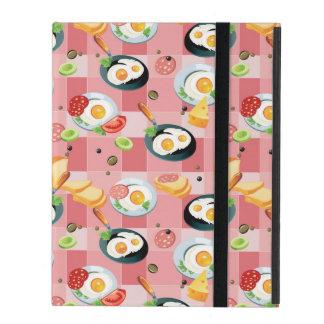 Motif de tomate et d'oeufs au plat coque iPad
