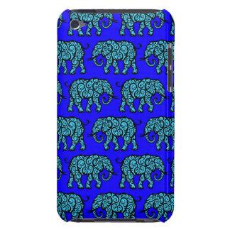 Motif de tourbillonnement bleu d'éléphant étuis iPod touch