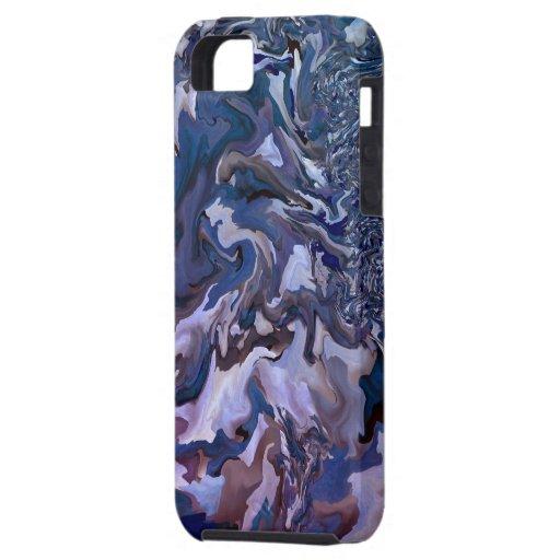 Motif de tourbillonnement d'art de fractale - cas  coques iPhone 5