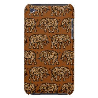 Motif de tourbillonnement d'éléphant de Brown Coque iPod Case-Mate