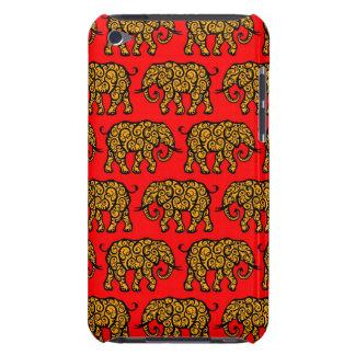 Motif de tourbillonnement jaune et rouge coque Case-Mate iPod touch