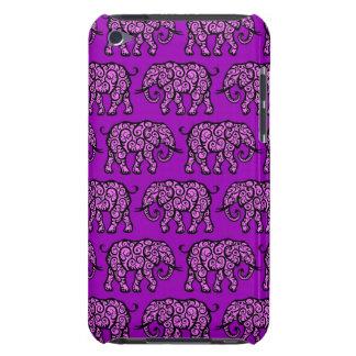 Motif de tourbillonnement pourpre d'éléphant étuis barely there iPod