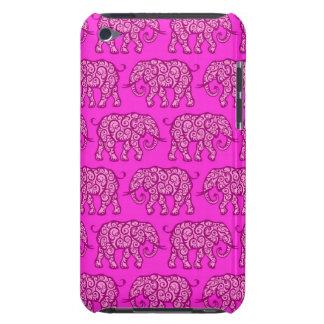 Motif de tourbillonnement rose d éléphant coque barely there iPod
