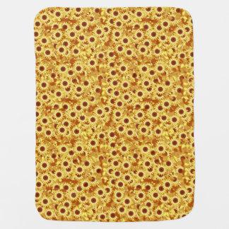 Motif de tournesol - or, jaune et brun couverture de bébé