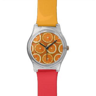 Motif de tranches de citron montres