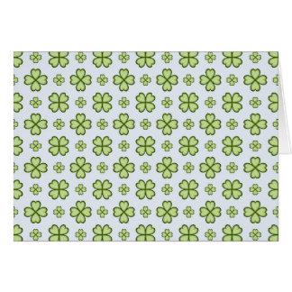 Motif de trèfle de quatre feuilles carte de vœux