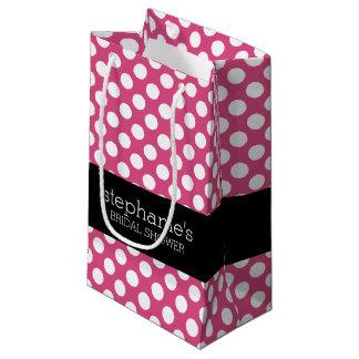 Motif de très bon goût de douche nuptiale de roses petit sac cadeau